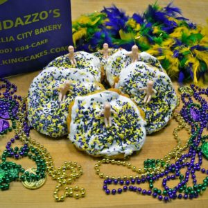 Mini King Cakes - Randazzo's Camellia City Bakery